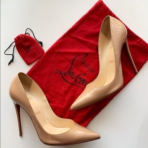 Christian Louboutin So Kate Red Bottom NUDE 120mm